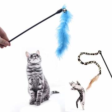 FYNIGO 30 Stück Katzenspielzeug Set mit Katzentunnel,Bälle,Federspielzeug,Plüschspielzeug,Spielzeugmäuse,Katzen Spielzeug Variety Pack für Kitty - 3