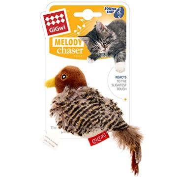 GiGwi 7020 Elektrisches / Interaktives Katzenspielzeug Melody Chaser Vogel mit bewegungsabhängigen Geräuschen, zur Beschäftigung - 3