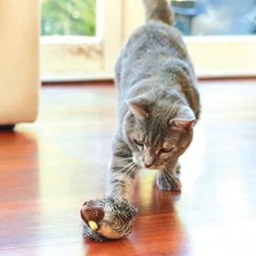GiGwi 7020 Elektrisches / Interaktives Katzenspielzeug Melody Chaser Vogel mit bewegungsabhängigen Geräuschen, zur Beschäftigung - 6