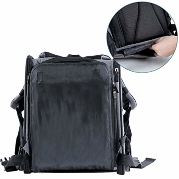 Hunderucksack Katzenrucksack für kleine Hunde Katzen Transporttasche mit Mesh Fenster, Staubtuch,Tragbare und Erweiterbare Outdoor Faltbarer Raum Tragetasche - 7
