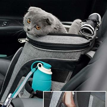 HYZH Groß Haustier Rucksäcke haustiertragetasche Atmungsaktive Outdoor Faltbarer für Hunde und Katzen 40X37X28cm - 2