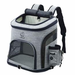 HYZH Groß Haustier Rucksäcke haustiertragetasche Atmungsaktive Outdoor Faltbarer für Hunde und Katzen 40X37X28cm - 1