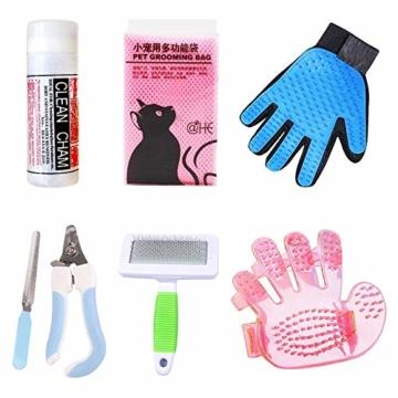 JUAN Hundekamm Hundebürste Wollhandschuhe für Haustiere, Katzen und Hunde, Pflege- und Pflegeausrüstung, Haarschneidemaschine - Katzenpflegeset - 1