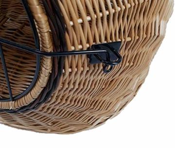 Katzenkorb aus Weide braun | Größe M 45x35x44 cm | abnehmbares Metall-Gitter | Transportkorb Transportbox für Katzen Hunde | Katzenhöle Käfig - 3