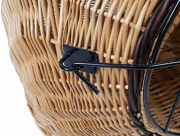 Katzenkorb aus Weide braun | Größe M 45x35x44 cm | abnehmbares Metall-Gitter | Transportkorb Transportbox für Katzen Hunde | Katzenhöle Käfig - 7