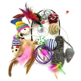 Katzenspielzeug, PietyPet Katze Toys Variety Pack, Spielzeug für Katzen Kitty, 13 Stück - 1