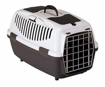 Kerbl Katzen Transportbox Gulliver 3 Metalltür Streichelklappe Teilefach - 1