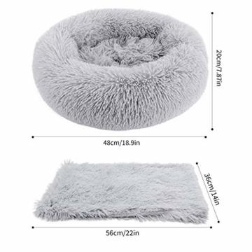 Legendog Bett für Katze,Hundekissen Flauschig Katzenbett Set mit Decke,Rutschfestes und Weiches Rundes Katzen Schlafsofa Katze Schlafen Betten für Katzen und Welpen - 2