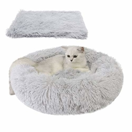 Legendog Bett für Katze,Hundekissen Flauschig Katzenbett Set mit Decke,Rutschfestes und Weiches Rundes Katzen Schlafsofa Katze Schlafen Betten für Katzen und Welpen - 1