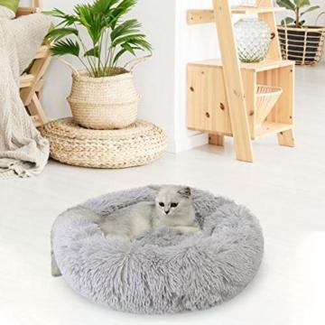 Legendog Bett für Katze,Hundekissen Flauschig Katzenbett Set mit Decke,Rutschfestes und Weiches Rundes Katzen Schlafsofa Katze Schlafen Betten für Katzen und Welpen - 4