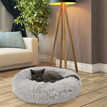 Legendog Bett für Katze,Hundekissen Flauschig Katzenbett Set mit Decke,Rutschfestes und Weiches Rundes Katzen Schlafsofa Katze Schlafen Betten für Katzen und Welpen - 5