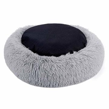 Legendog Bett für Katze,Hundekissen Flauschig Katzenbett Set mit Decke,Rutschfestes und Weiches Rundes Katzen Schlafsofa Katze Schlafen Betten für Katzen und Welpen - 6