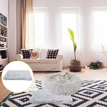 Legendog Bett für Katze,Hundekissen Flauschig Katzenbett Set mit Decke,Rutschfestes und Weiches Rundes Katzen Schlafsofa Katze Schlafen Betten für Katzen und Welpen - 9