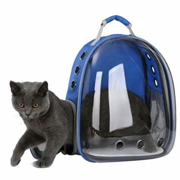 Luluspace Haustier Rucksack Raumkapsel, 360 ° Sichtfeld Tragbar Transportrucksack Transporttasche Tragetasche für Klein Haustier Hunde Katzen Kaninchen im Freien, Sicher & Atmungsaktiv (Rosa) - 5