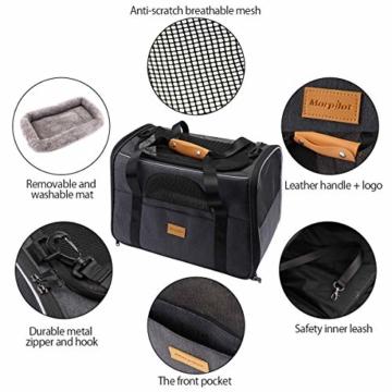 morpilot Faltbare Hundetragetasche Katzentragetasche, Haustiertragetasche, Transporttasche Transportbox Oxford Gewebe, mit Schultergurt und Faltbare Hundenapf für Hunden oder Katzen - 2