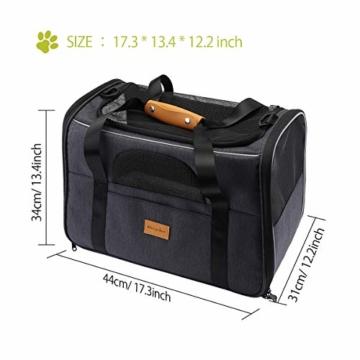 morpilot Faltbare Hundetragetasche Katzentragetasche, Haustiertragetasche, Transporttasche Transportbox Oxford Gewebe, mit Schultergurt und Faltbare Hundenapf für Hunden oder Katzen - 5