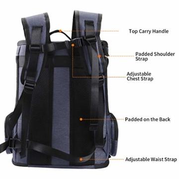 morpilot Hunderucksack, Katzenrucksack für Katzen und Hunde Welpen, Atmungsaktive und Faltbare Haustier Hunde Rucksack mit internem Sicherheitsgur (13 * 11 * 16.5 inch) + Faltbare Hundenapf - 3