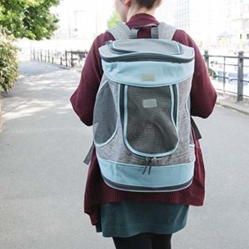 Navaris Rucksack für Hund Katze gepolstert - Hunderucksack Katzenrucksack - 33x28x43cm Haustier Backpack faltbar - Traglast bis 15kg - 2
