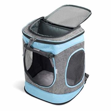 Navaris Rucksack für Hund Katze gepolstert - Hunderucksack Katzenrucksack - 33x28x43cm Haustier Backpack faltbar - Traglast bis 15kg - 7