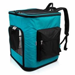 Navaris Rucksack für Hund Katze gepolstert - Hunderucksack Katzenrucksack mit Bauchgurt - 40x33x40cm Haustier Backpack faltbar - Traglast bis 12kg - 1