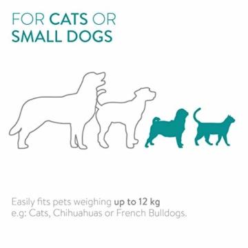 Navaris Rucksack für Hund Katze gepolstert - Hunderucksack Katzenrucksack mit Bauchgurt - 40x33x40cm Haustier Backpack faltbar - Traglast bis 12kg - 7