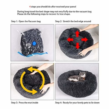NIBESSER Hundebett Tierbtt Katzenbett Hundesofa Katzensofa Kissen Flauschig, Weich u. Waschbar für Katzen Hunde - 2
