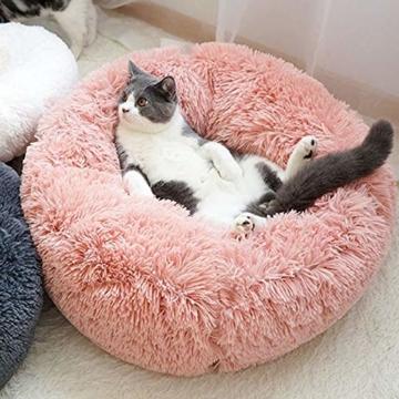NIBESSER Hundebett Tierbtt Katzenbett Hundesofa Katzensofa Kissen Flauschig, Weich u. Waschbar für Katzen Hunde - 5