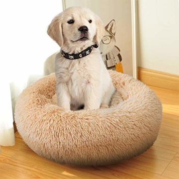 NIBESSER Hundebett Tierbtt Katzenbett Hundesofa Katzensofa Kissen Flauschig, Weich u. Waschbar für Katzen Hunde - 6