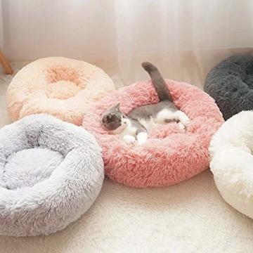 NIBESSER Hundebett Tierbtt Katzenbett Hundesofa Katzensofa Kissen Flauschig, Weich u. Waschbar für Katzen Hunde - 8