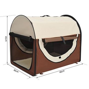 PawHut Stabile, faltbare Transporttasche für kleine Hunde, Welpen, Katzen und andere Kleintiere! Größe S - 7