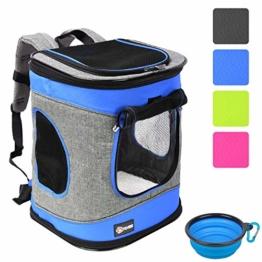 """Pawsse Dog Backpack Pet Carrier Rucksack für Katzen und Hunde bis 15 Pfund Outdoor Travel Carrier für Haustiere Wandern, Walken, Radfahren & Outdoor 16"""" H x13.2 L x12 W Blau - 1"""