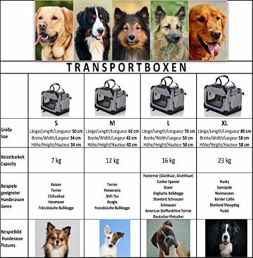 PET VIOLET Transportbox Hundebox Faltbar Katzenbox Hunde Tragetasche 62x42x44 cm, Grün - 6