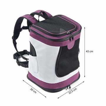Petcomer SBC5148 Haustiertragetasche für Hunde und Katzen Faltbarer Rucksäcke gut für Wander-Kampagne Tägliche Verwendung, Einheitsgröße, Purple - 6