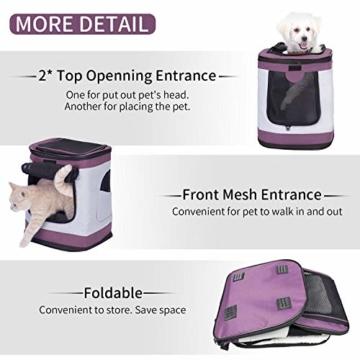 Petcomer SBC5148 Haustiertragetasche für Hunde und Katzen Faltbarer Rucksäcke gut für Wander-Kampagne Tägliche Verwendung, Einheitsgröße, Purple - 8