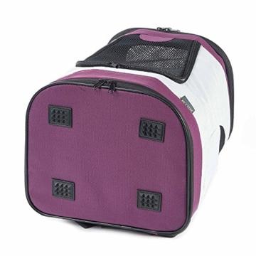 Petcomer SBC5148 Haustiertragetasche für Hunde und Katzen Faltbarer Rucksäcke gut für Wander-Kampagne Tägliche Verwendung, Einheitsgröße, Purple - 9
