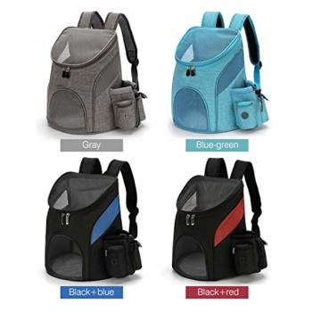 PETCUTE Hunderucksack Katzenrucksack Rucksack für kleine Hunde Haustiertragetasche Taschen mit Abnehmbarer Matte - 2