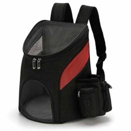 PETCUTE Hunderucksack Katzenrucksack Rucksack für kleine Hunde Haustiertragetasche Taschen mit Abnehmbarer Matte - 1