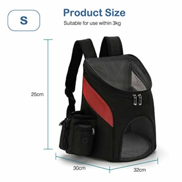 PETCUTE Hunderucksack Katzenrucksack Rucksack für kleine Hunde Haustiertragetasche Taschen mit Abnehmbarer Matte - 4