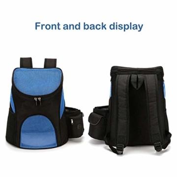PETCUTE Hunderucksack Katzenrucksack Rucksack für kleine Hunde Haustiertragetasche Taschen mit Abnehmbarer Matte - 7