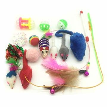 PietyPet Katzenspielzeug, Katze Toys Variety Pack, Spielzeug für Katzen Kitty 15 Stück - 3