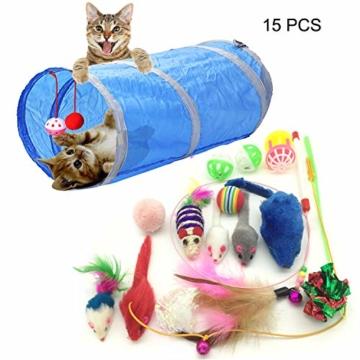 PietyPet Katzenspielzeug, Katze Toys Variety Pack, Spielzeug für Katzen Kitty 15 Stück - 5