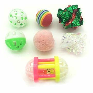 PietyPet Katzenspielzeug, Katze Toys Variety Pack, Spielzeug für Katzen Kitty 15 Stück - 6