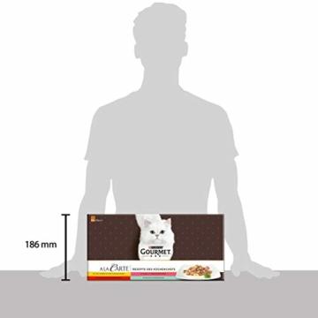 PURINA GOURMET A la Carte Katzenfutter nass, Sorten-Mix, 60er Pack (60 x 85g) - 3