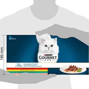 PURINA GOURMET Perle Erlesene Streifen Katzenfutter nass, Sorten-Mix, 60er Pack (60 x 85g) - 5