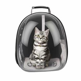RCruning-EU Haustier Rucksack Transport Hunderucksack für Hunde und Katzen Rucksäcke bis About 12KG-Black - 1