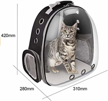 RCruning-EU Haustier Rucksack Transport Hunderucksack für Hunde und Katzen Rucksäcke bis About 12KG-Black - 6