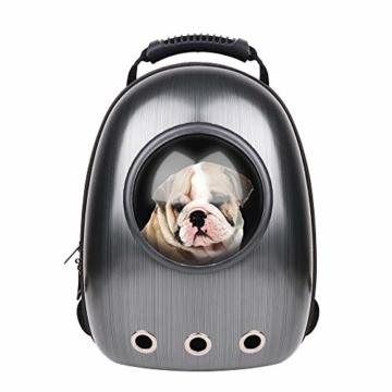 RCruning-EU Hundetasche Haustier Hunde Rucksack Raumkapsel Pet Tragbar Carrier Platz Kapsel Rucksack Luftlöcher Wasserdicht Leicht Handtasche für Katzen Kleine Hunde Petite Tiere - 6
