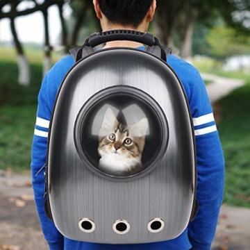 RCruning-EU Hundetasche Haustier Hunde Rucksack Raumkapsel Pet Tragbar Carrier Platz Kapsel Rucksack Luftlöcher Wasserdicht Leicht Handtasche für Katzen Kleine Hunde Petite Tiere - 8