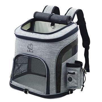 REAYOU Haustier Reise Rucksack Haustier Rucksäcke haustiertragetasche Atmungsaktive Outdoor Faltbarer für Hunde und Katzen (Black-L) - 1