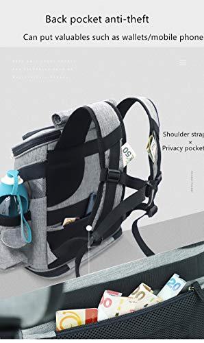 REAYOU Haustier Reise Rucksack Haustier Rucksäcke haustiertragetasche Atmungsaktive Outdoor Faltbarer für Hunde und Katzen (Black-L) - 9